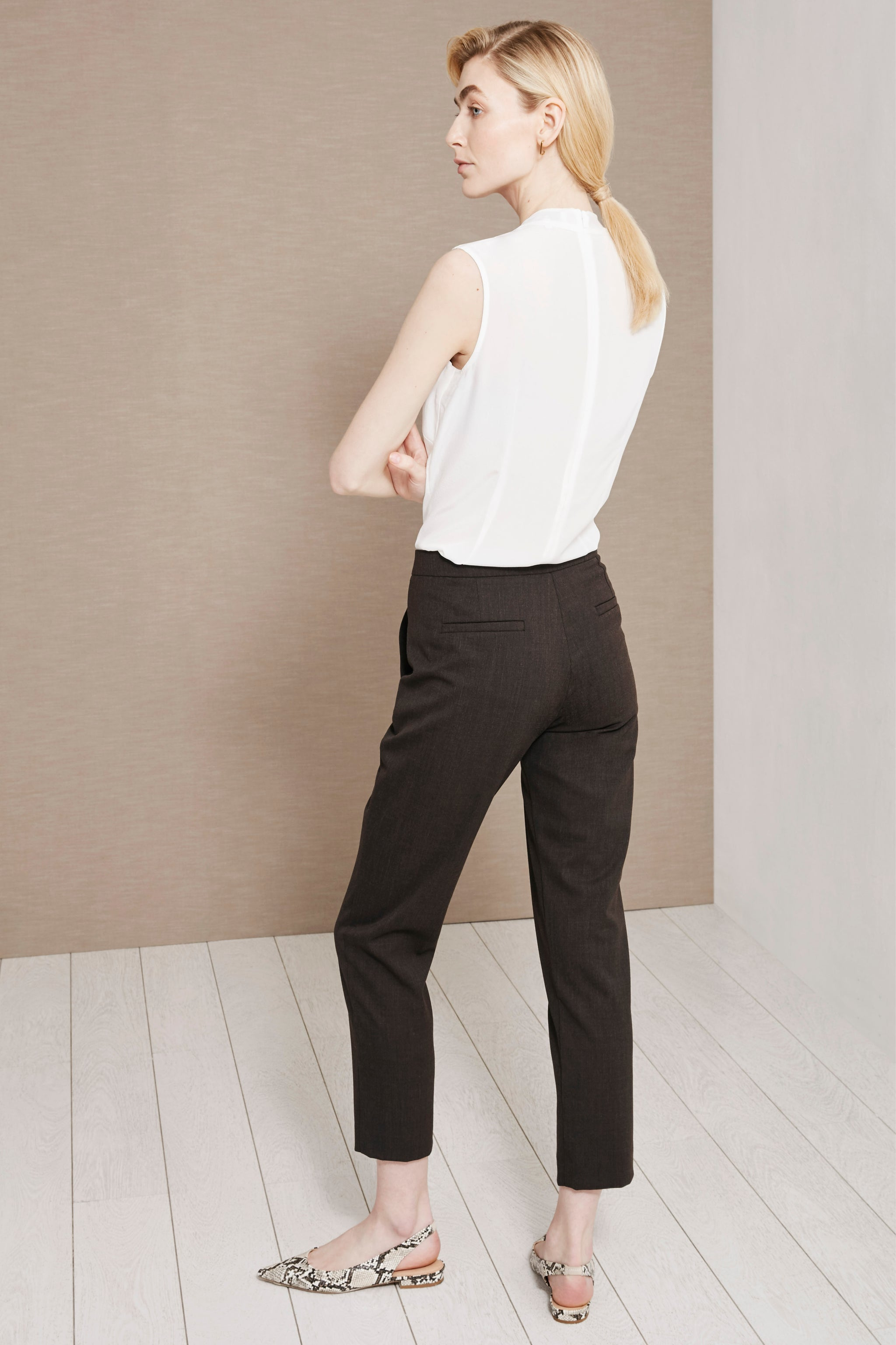 Clarence Truffle Brown Trousers
