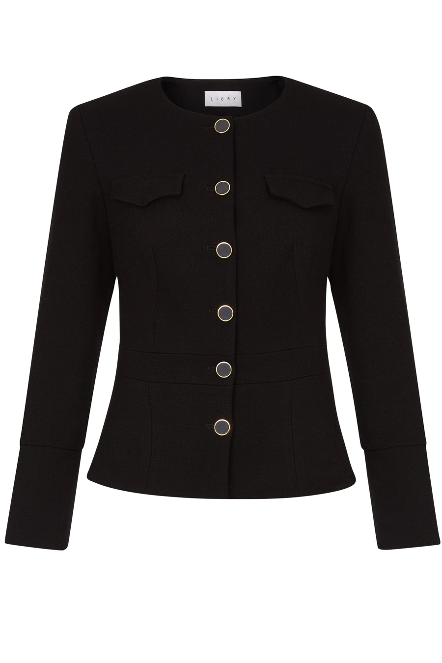 Connaught Black Boucle Jacket