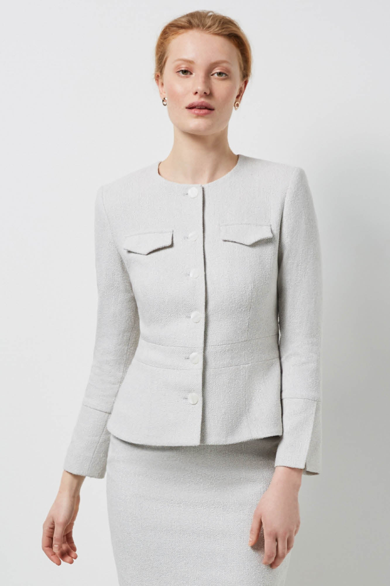 Connaught Ivory Jacquard Jacket