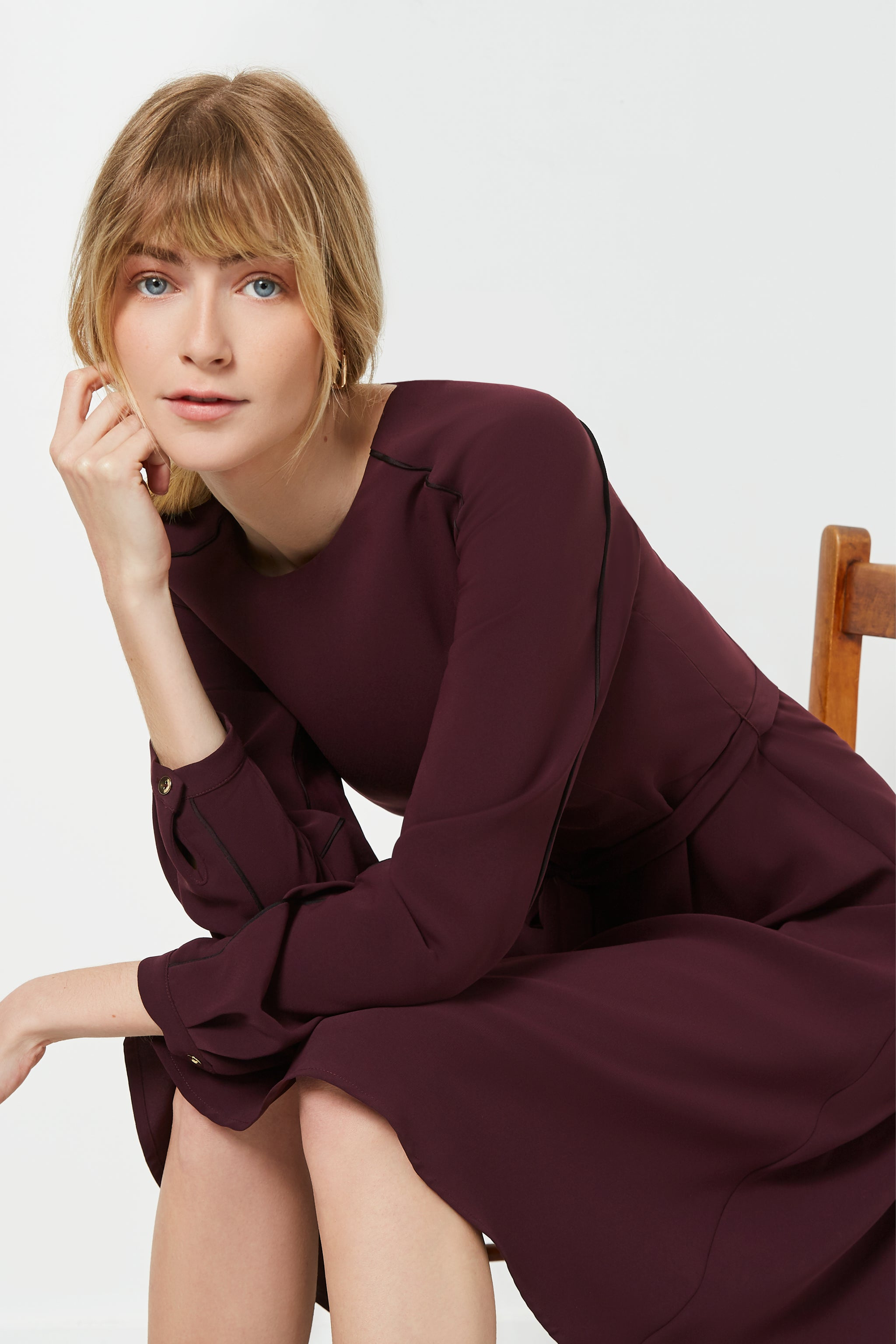 Eccleston Aubergine Dress