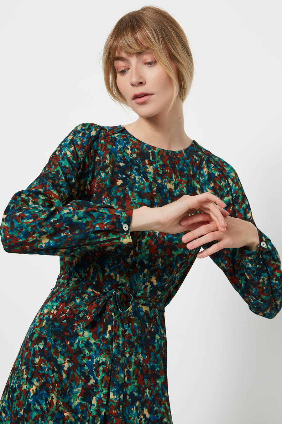 Eccleston Monet Print Dress