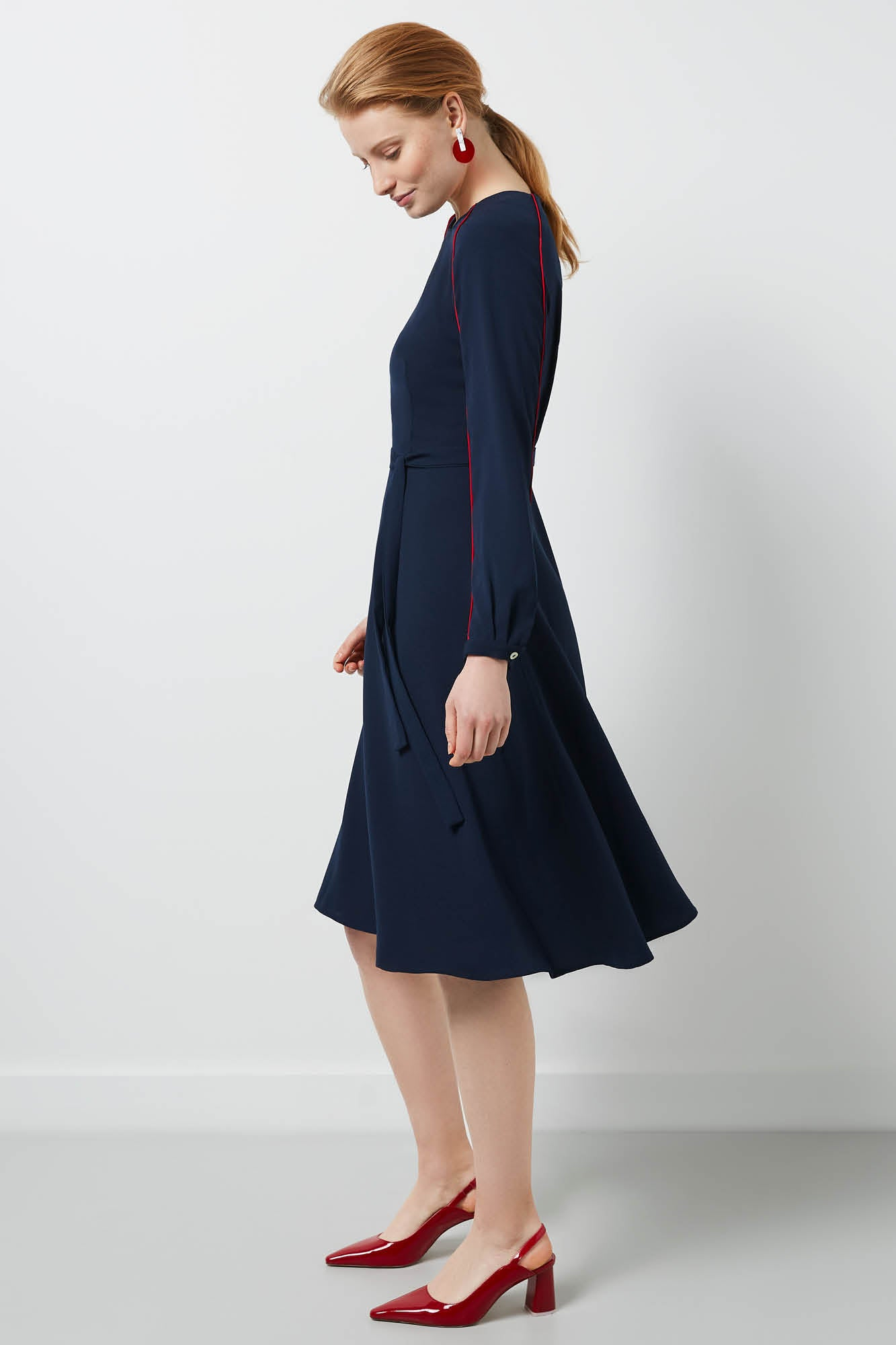 Eccleston Navy Dress