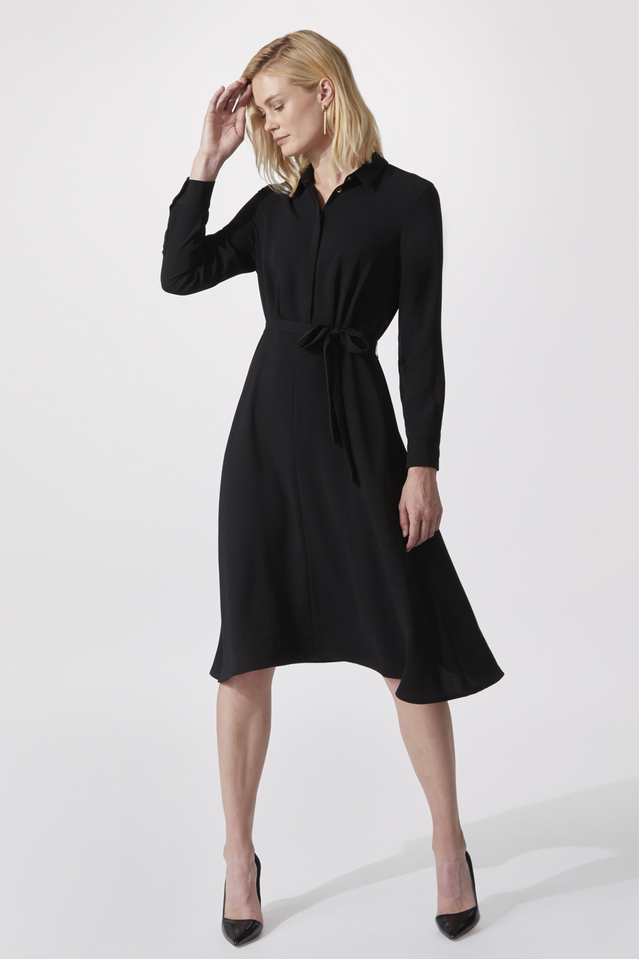 Exeter Black Shirt Dress
