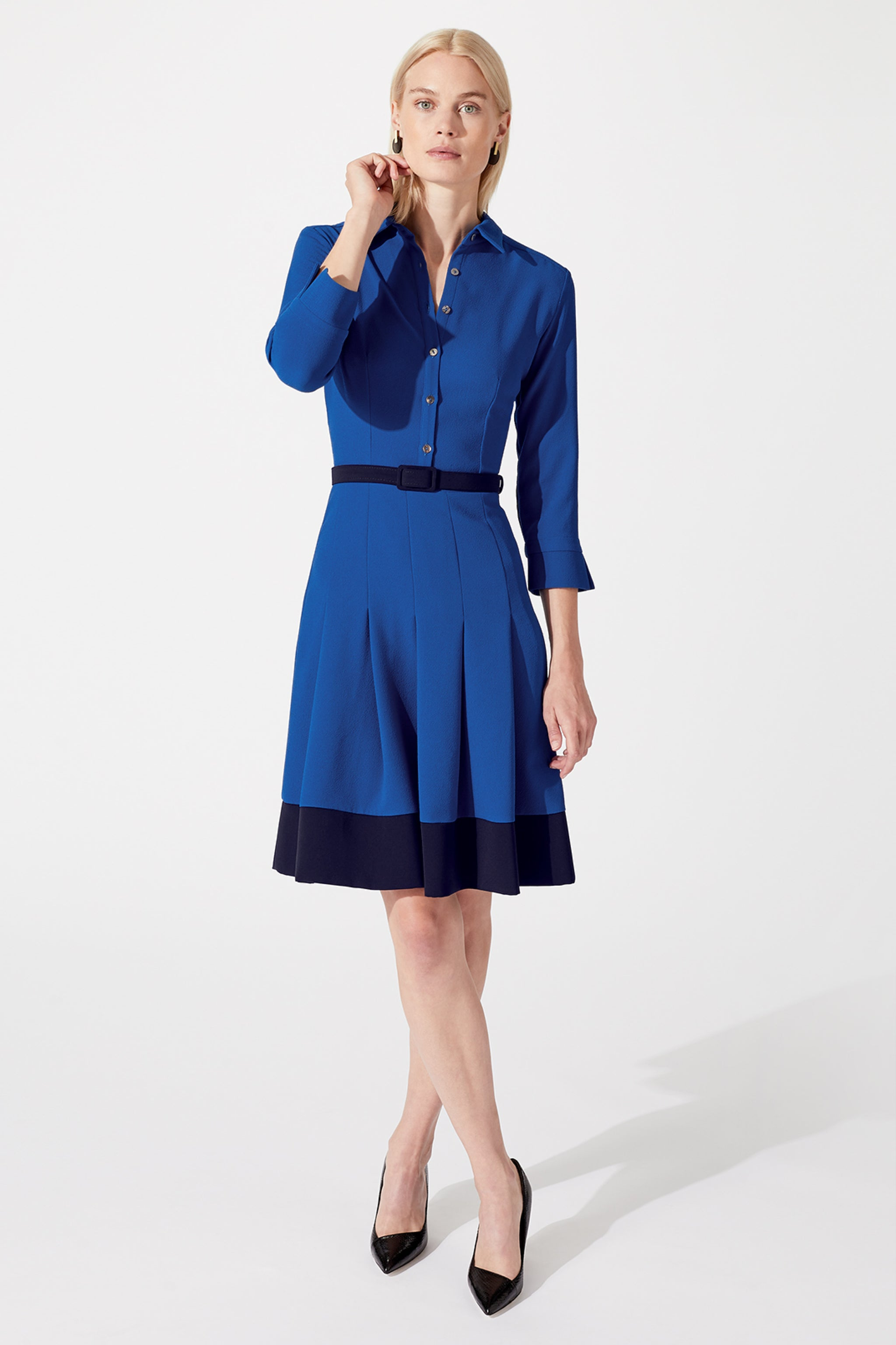 Lewis Cobalt & Navy Shirt Dress
