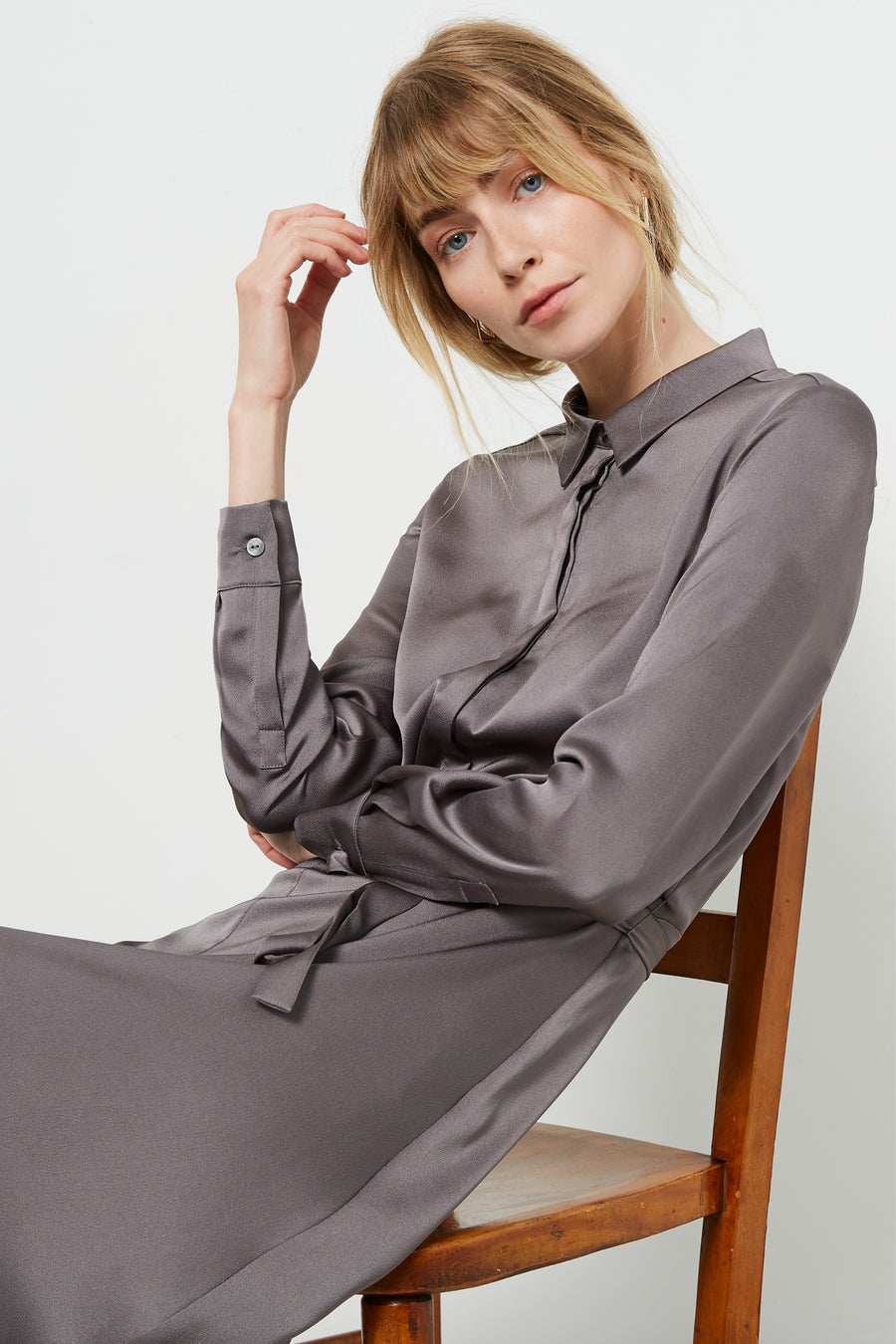 Exeter Grey Shirt Dress