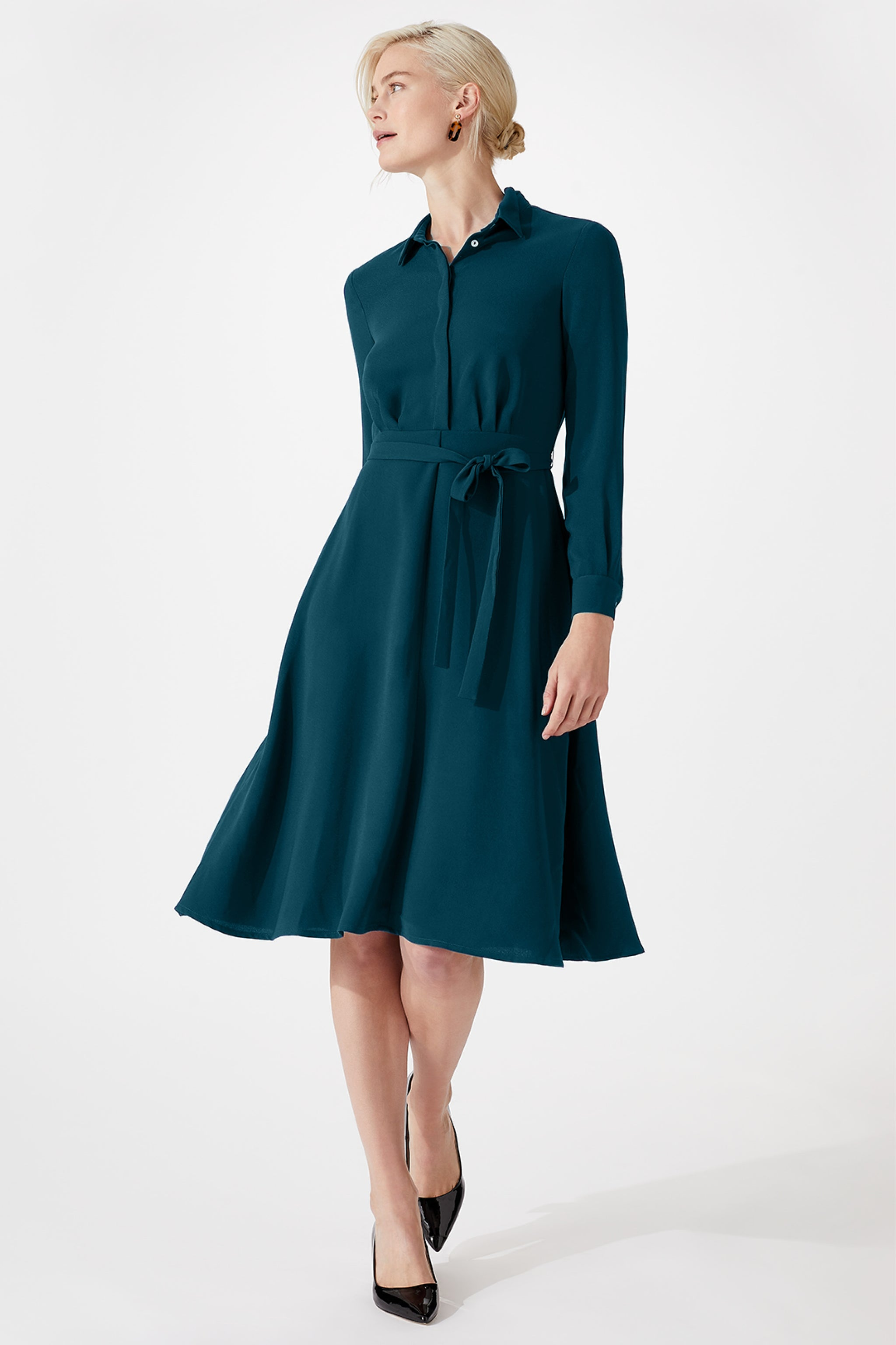 Exeter Teal Shirt Dress