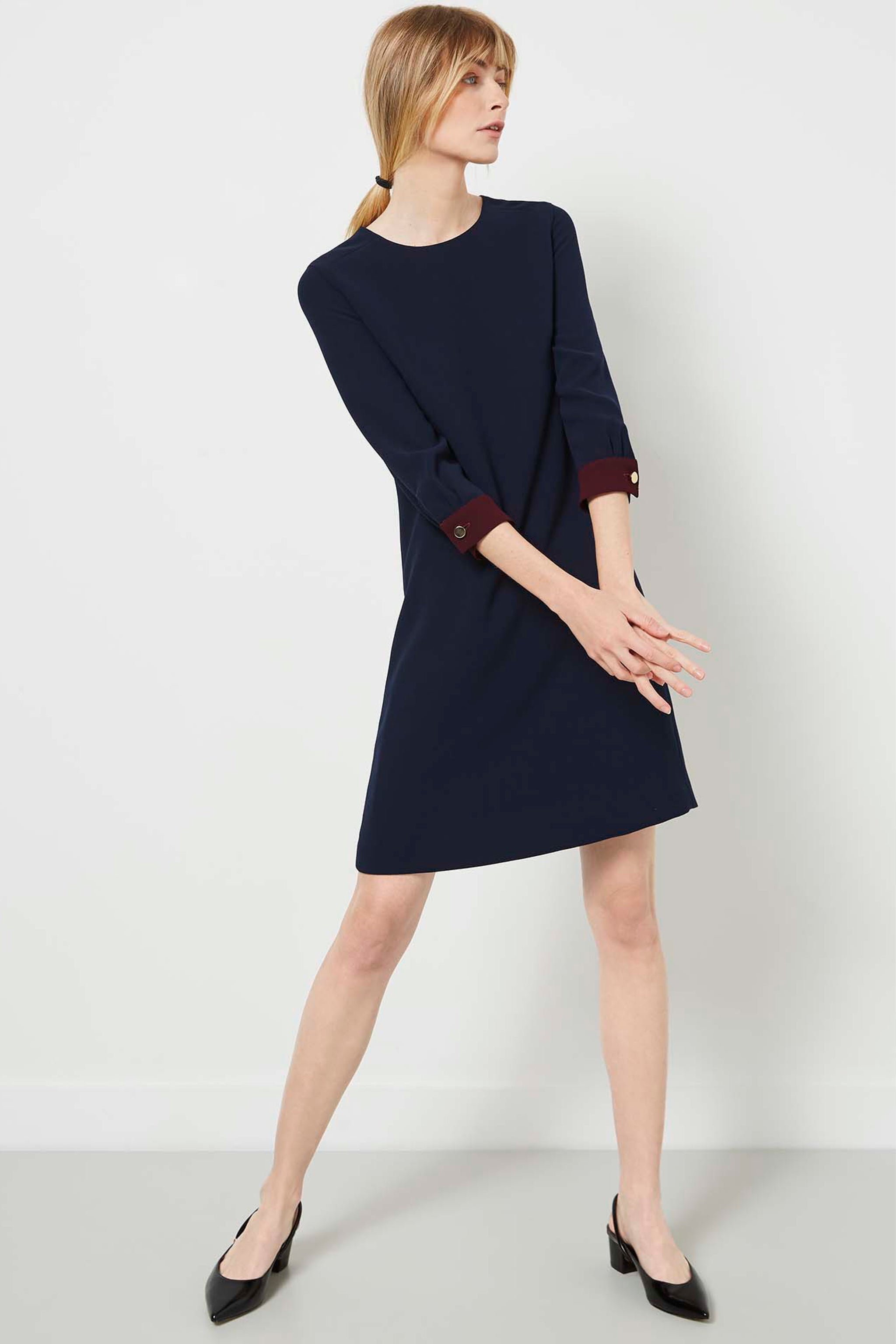 Falmouth Navy and Aubergine Dress