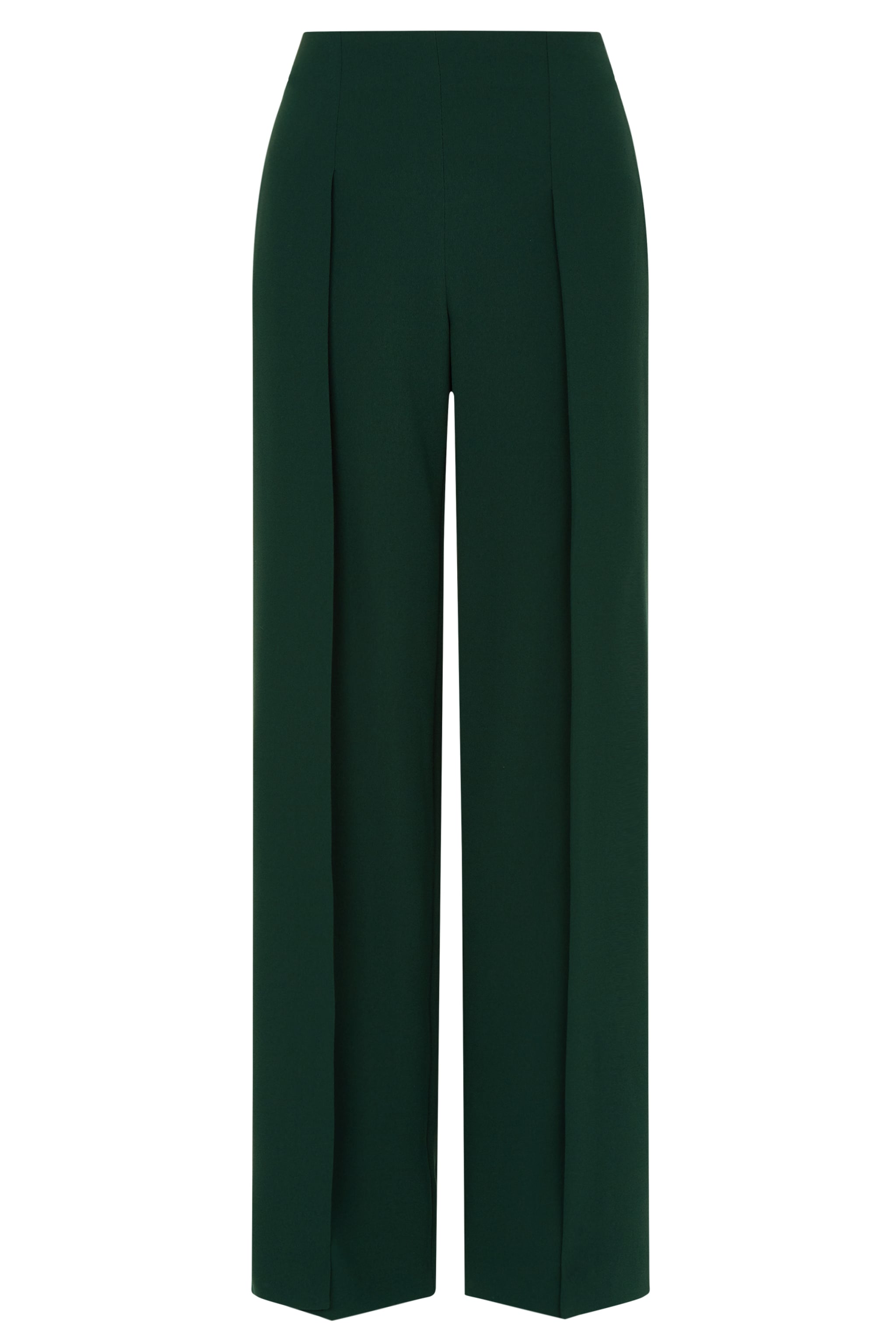 Fenchurch Green Crepe Trousers