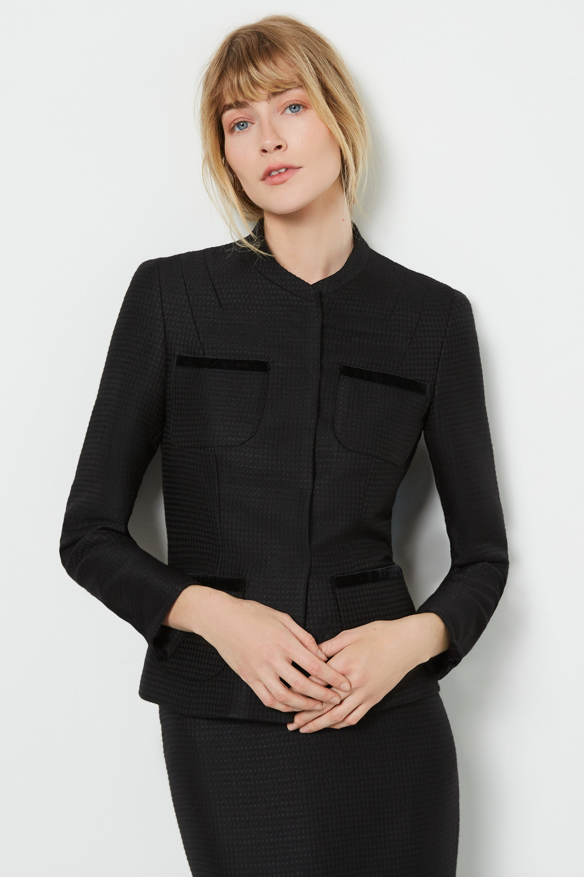 Gresham Black Herringbone Jacket