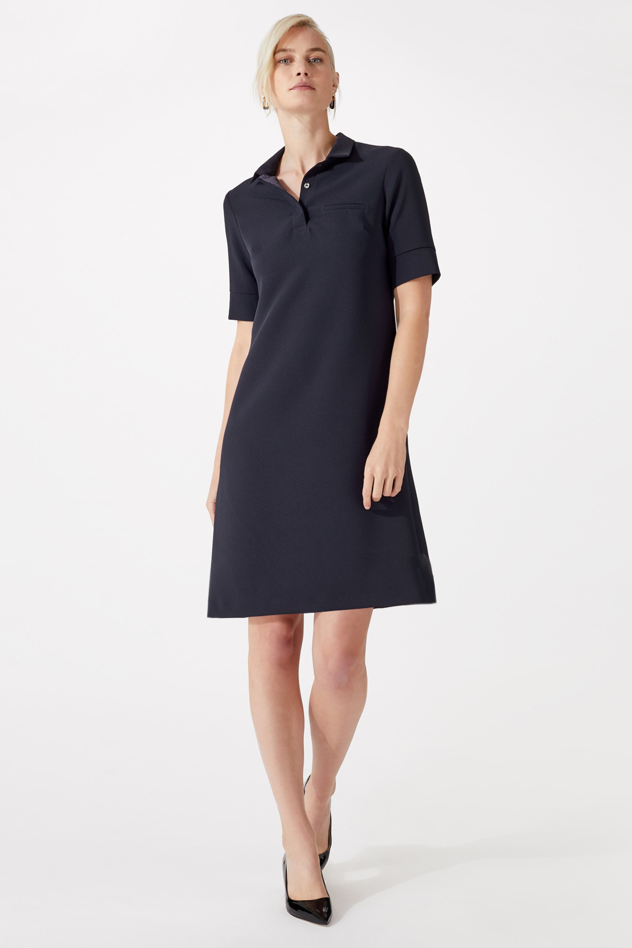 Hurlingham Navy Dress
