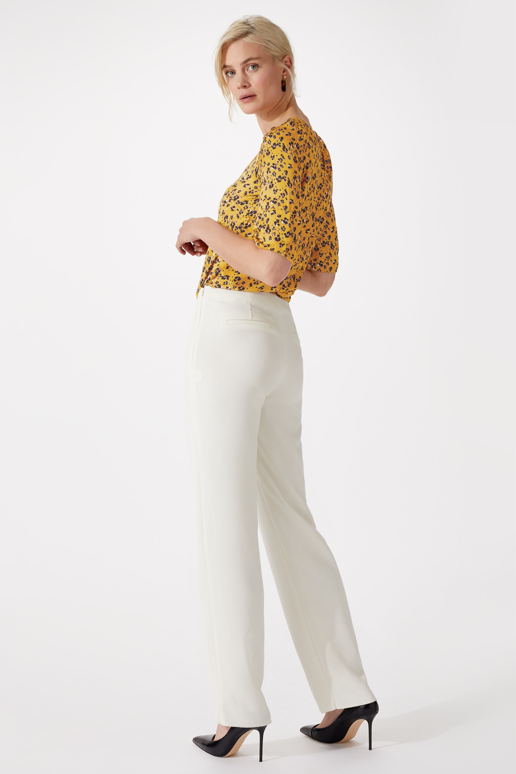 Keswick Golden Flower Print Top