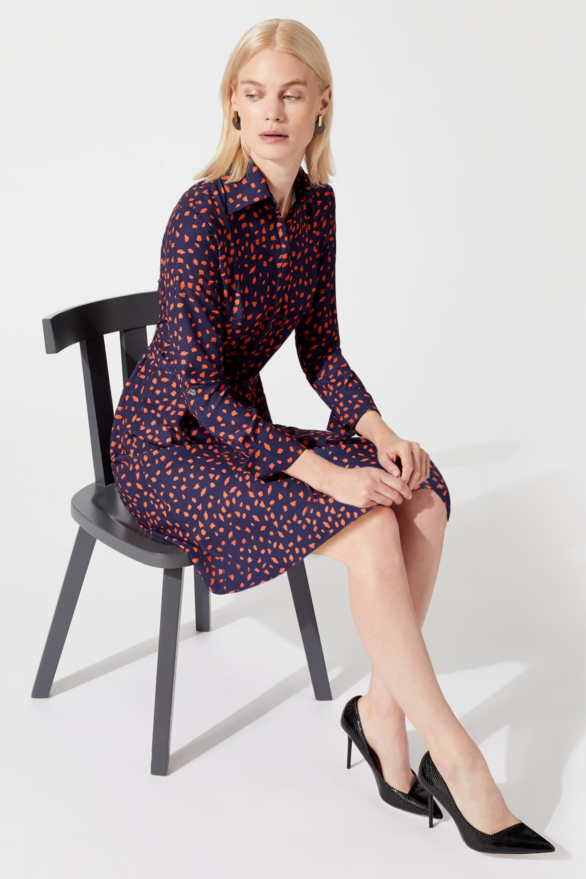 Langham Dapple Print Shirt Dress