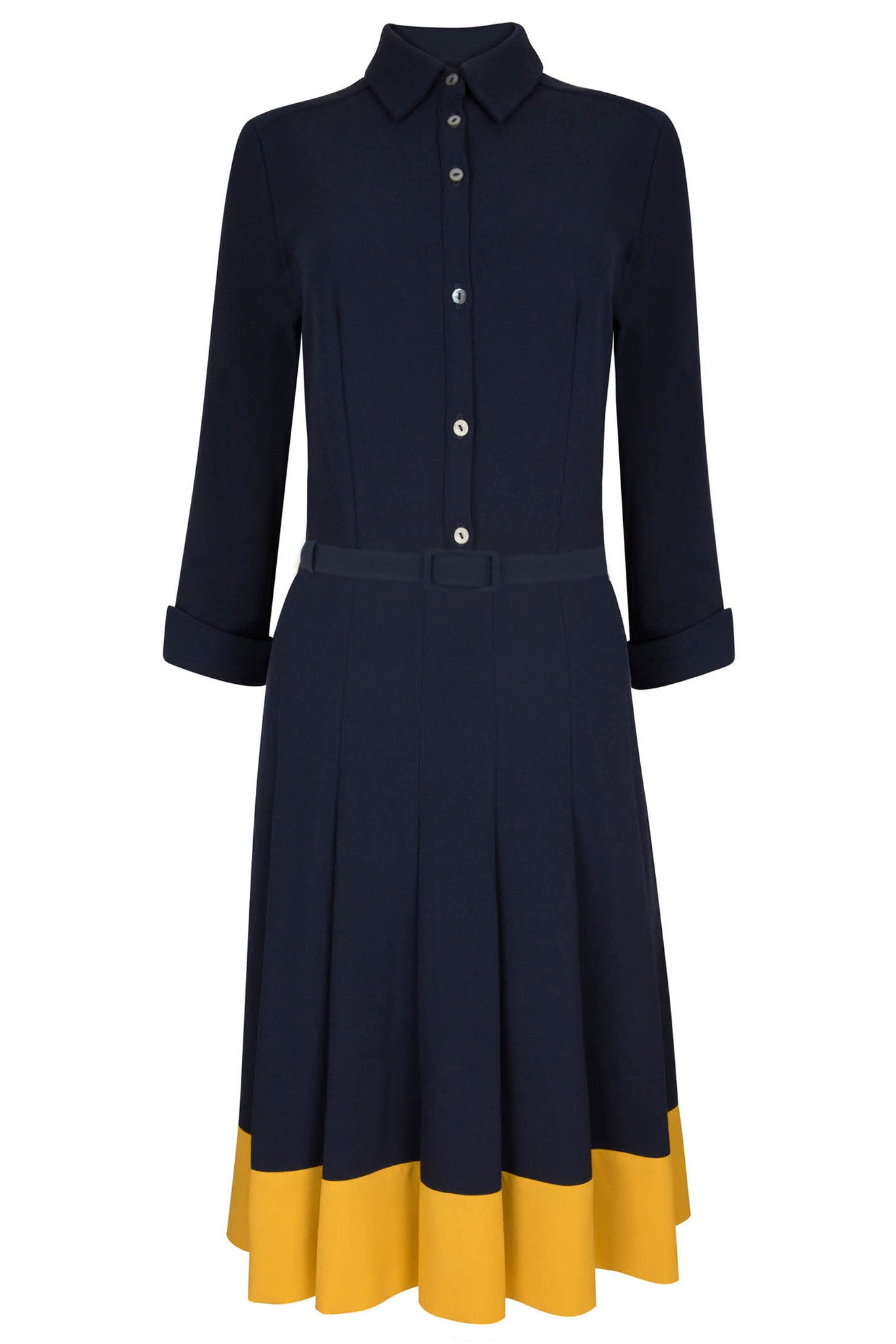 Lewis Navy & Yellow Shirt Dress
