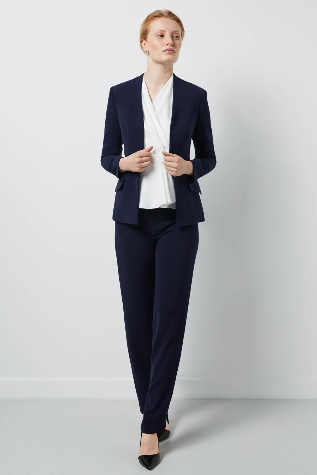 Stirling Navy Suiting Trousers