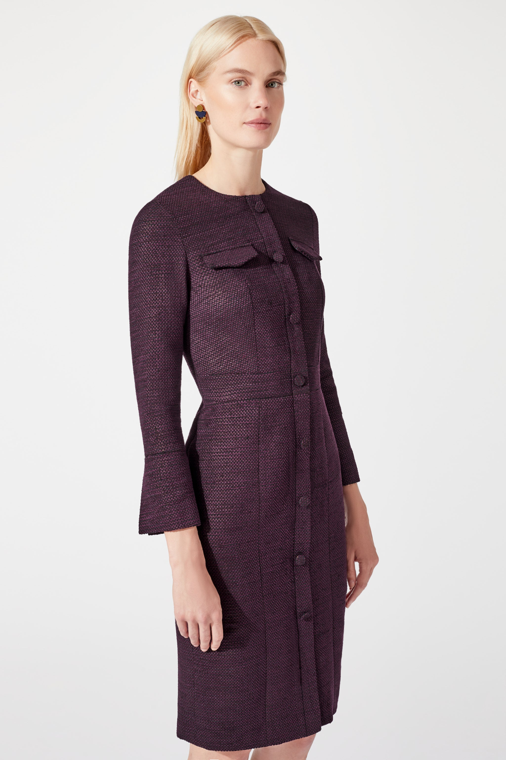 Maddox Damson Jacquard Dress