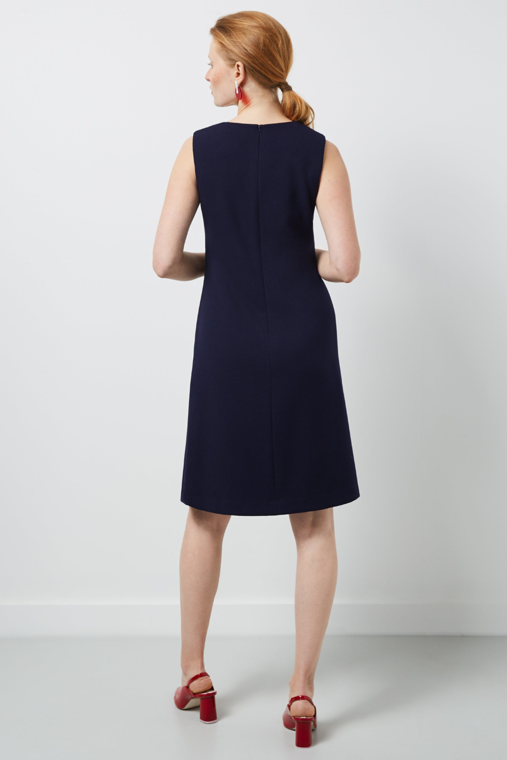 Margot Navy Boucle Dress