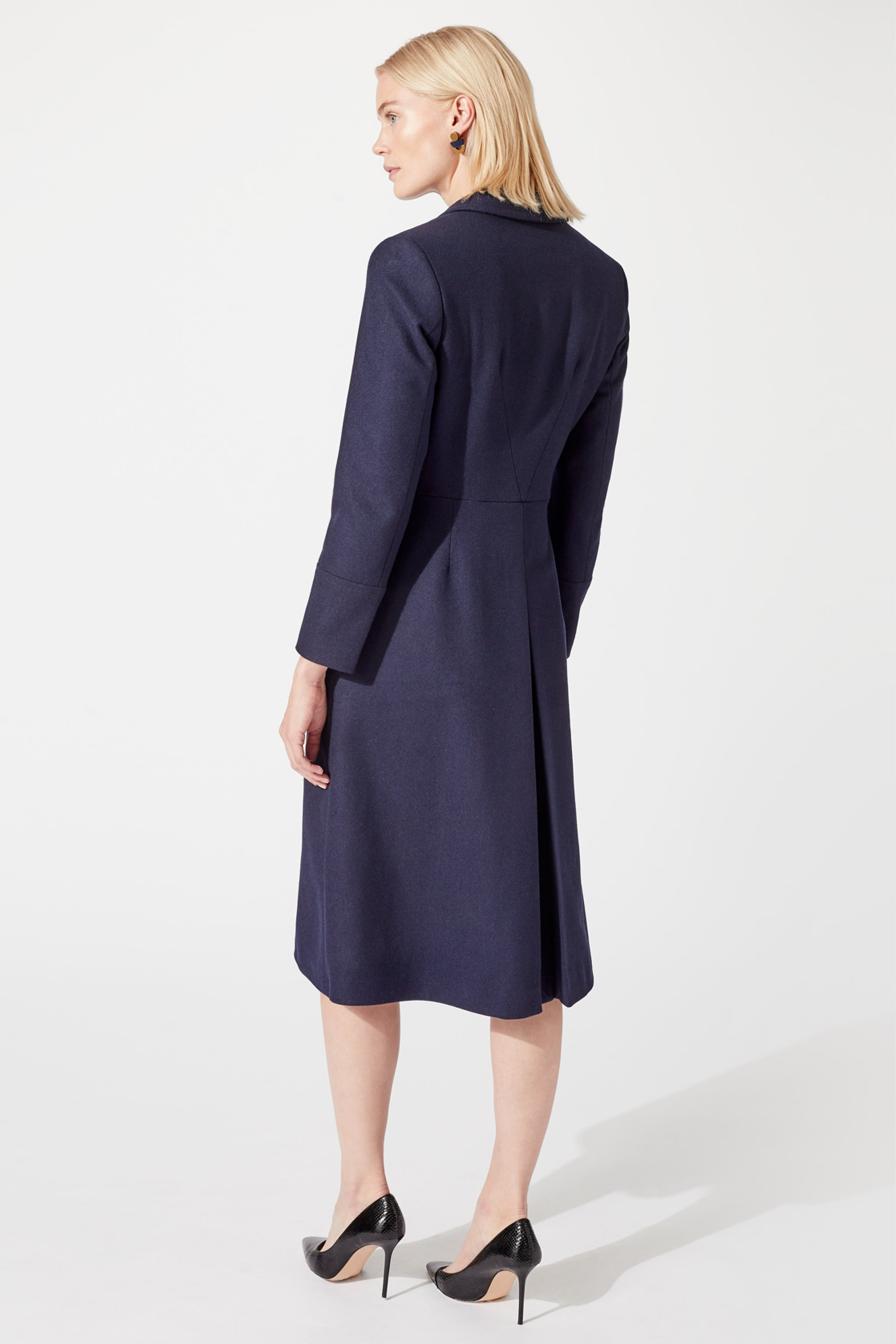 Mayfair Navy Wool Coat