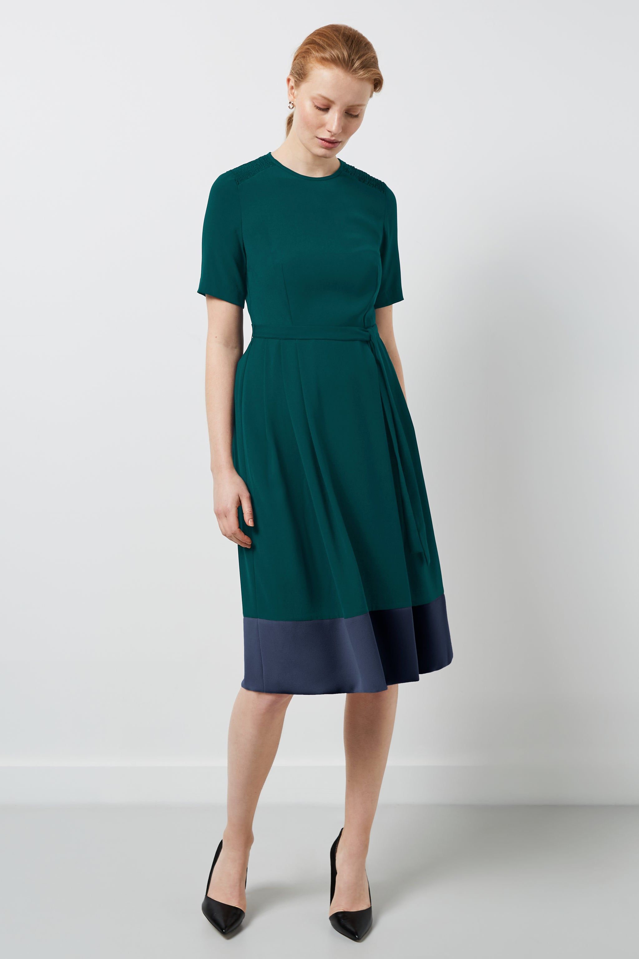 Norfolk Green and Navy Dress