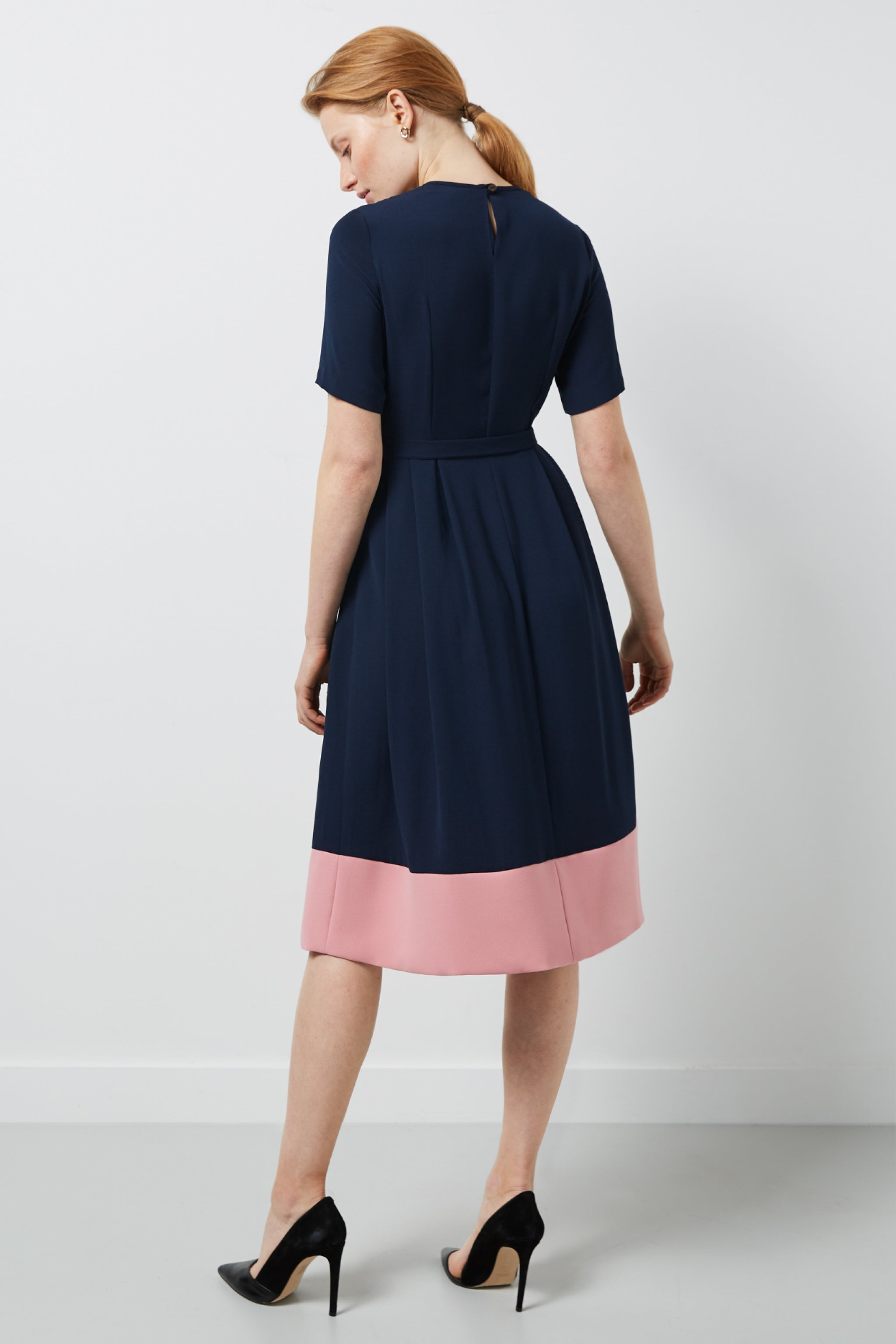 Norfolk Navy and Pink Dress