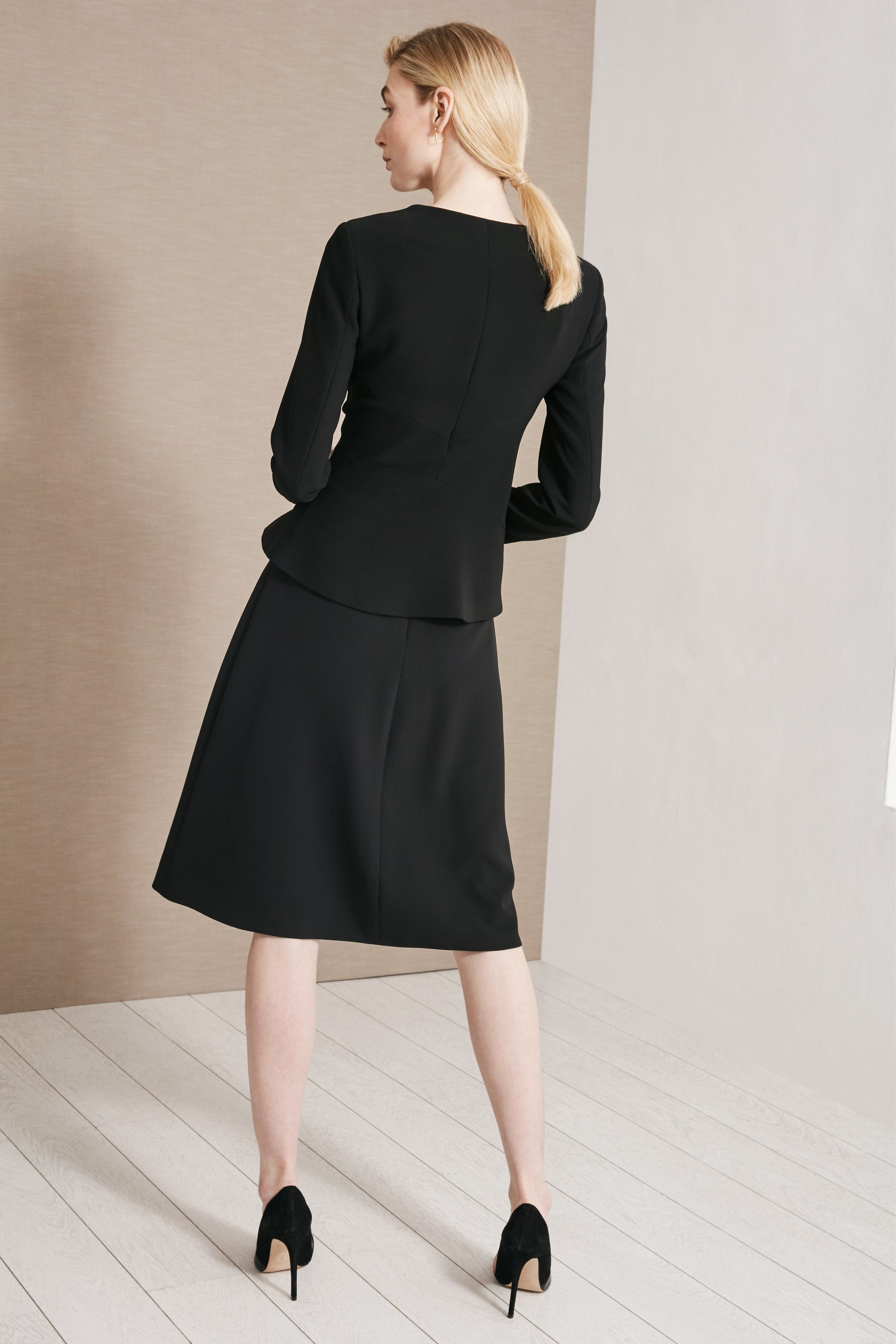 Pulborough Black Suiting Skirt