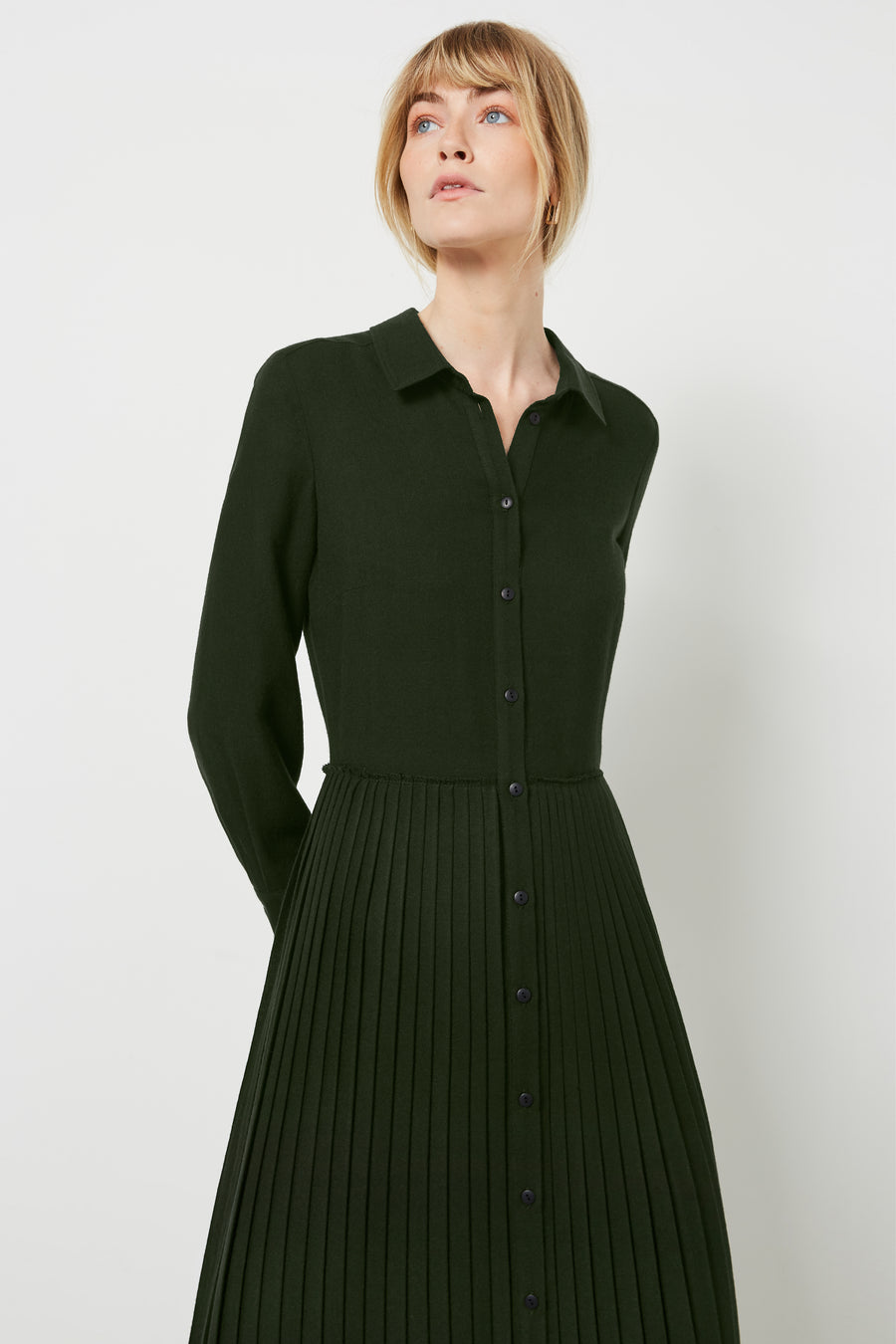 Sanderson Green Shirt Dress