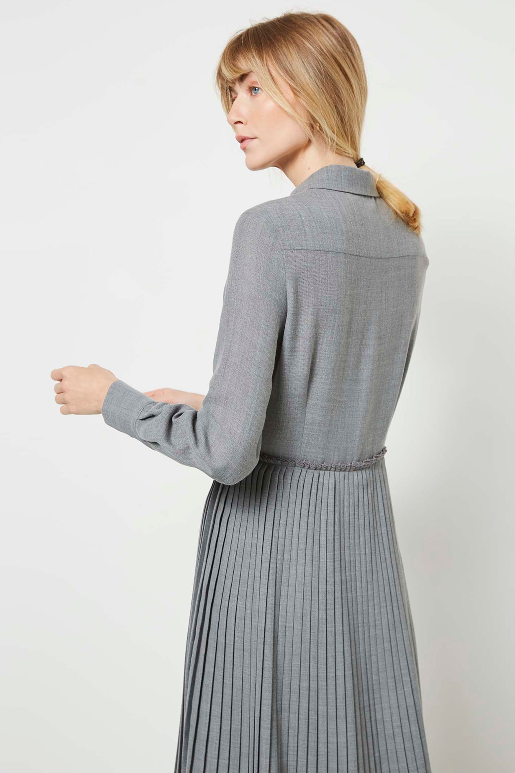 Sanderson Pale Grey Shirt Dress