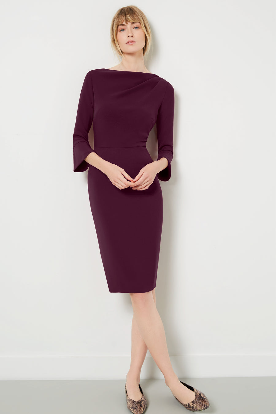 Serpentine Aubergine Dress