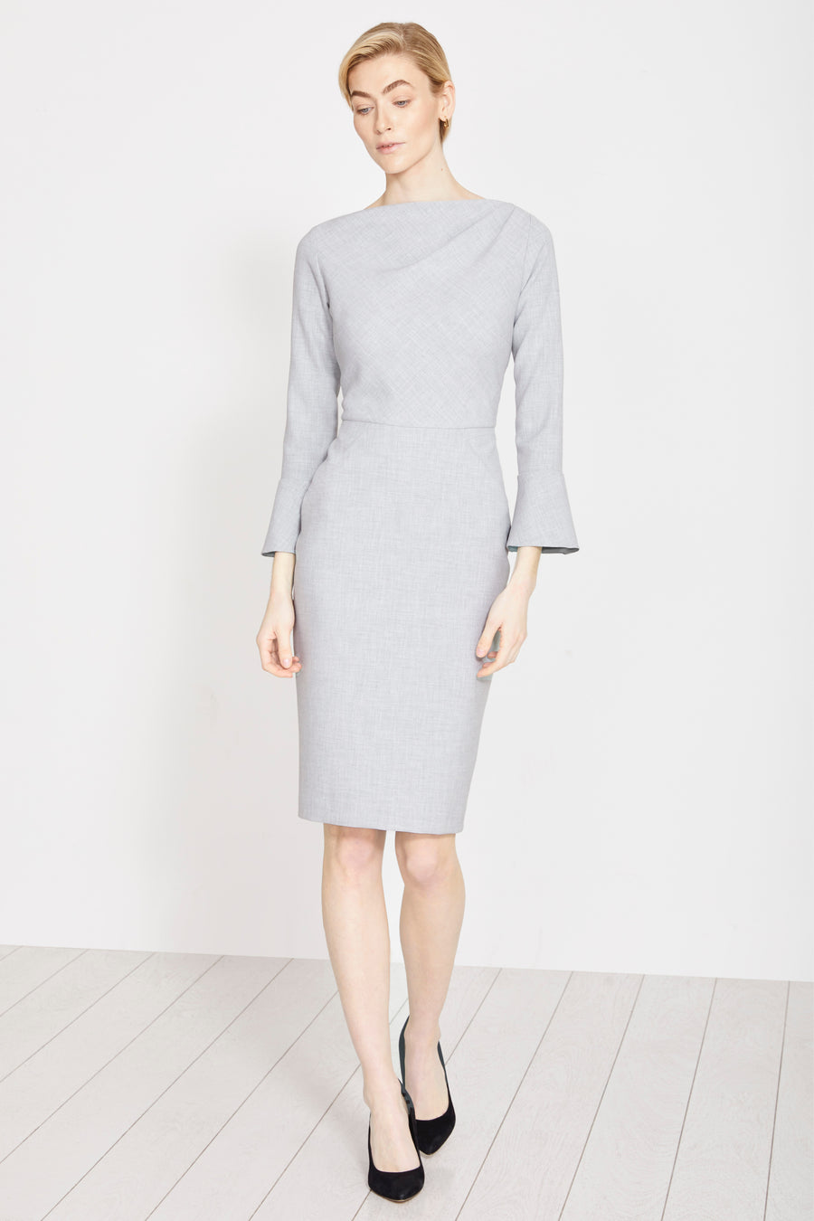 Serpentine Pale Grey Dress