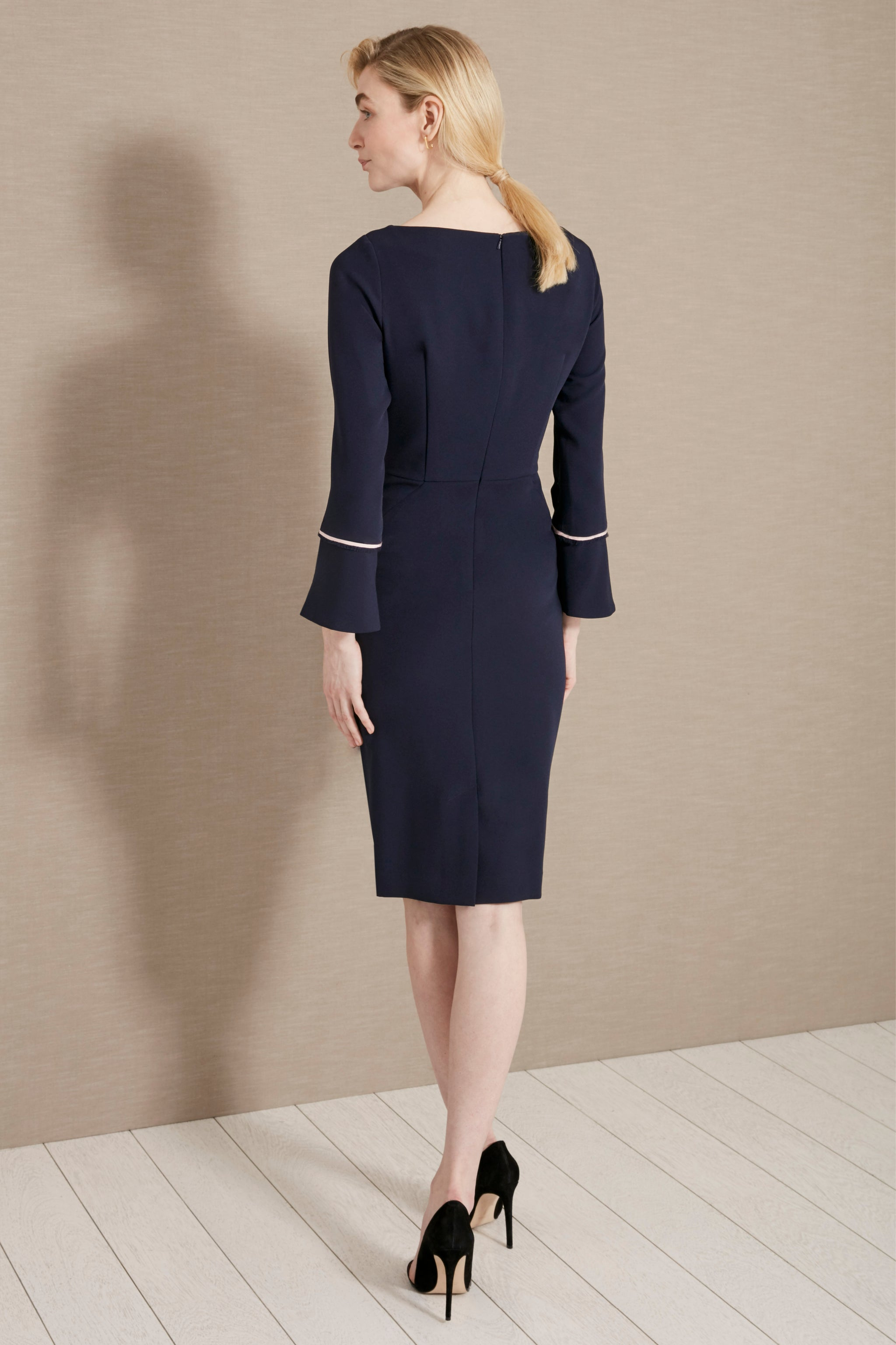 Serpentine Navy Dress