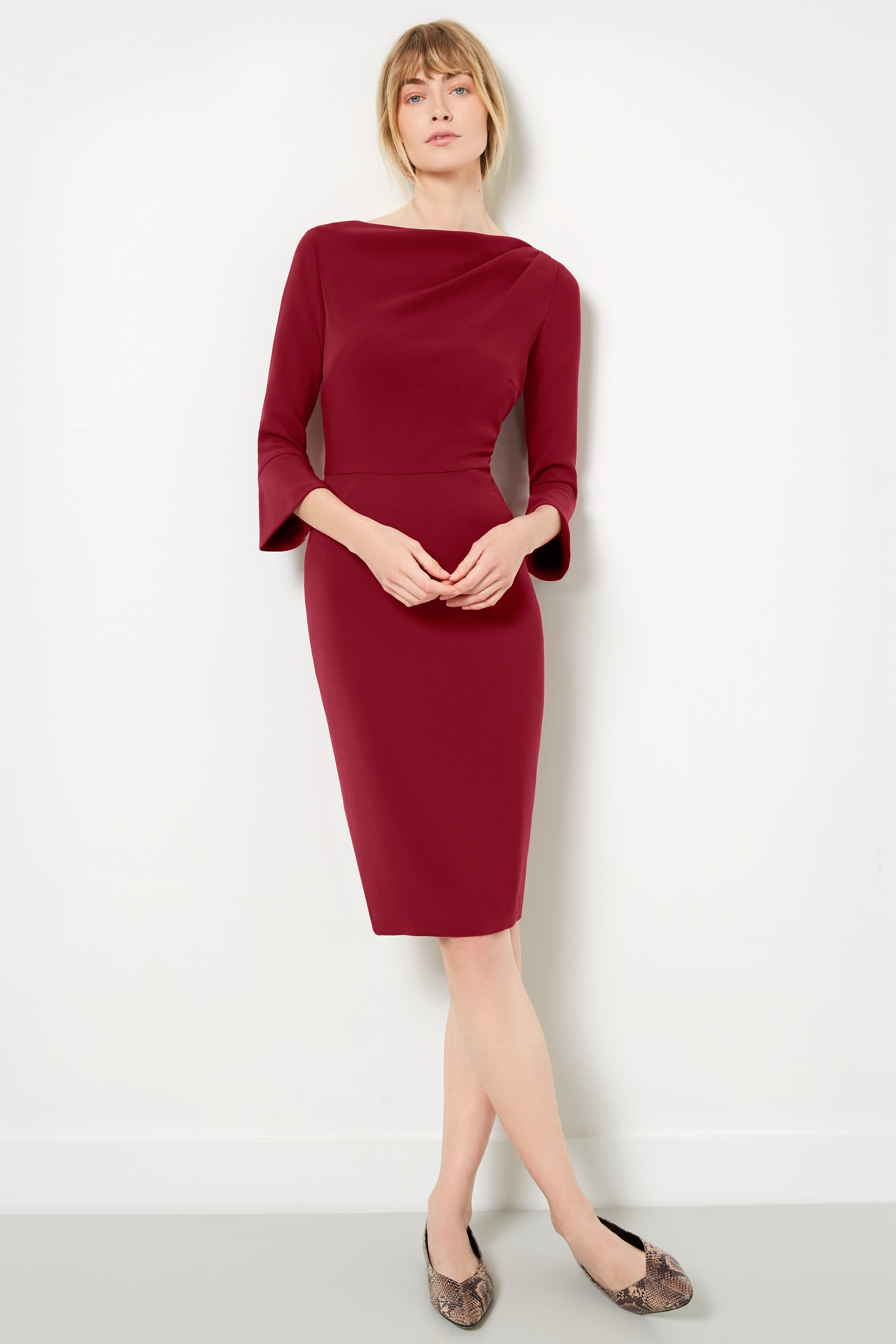 Serpentine Cabernet Dress