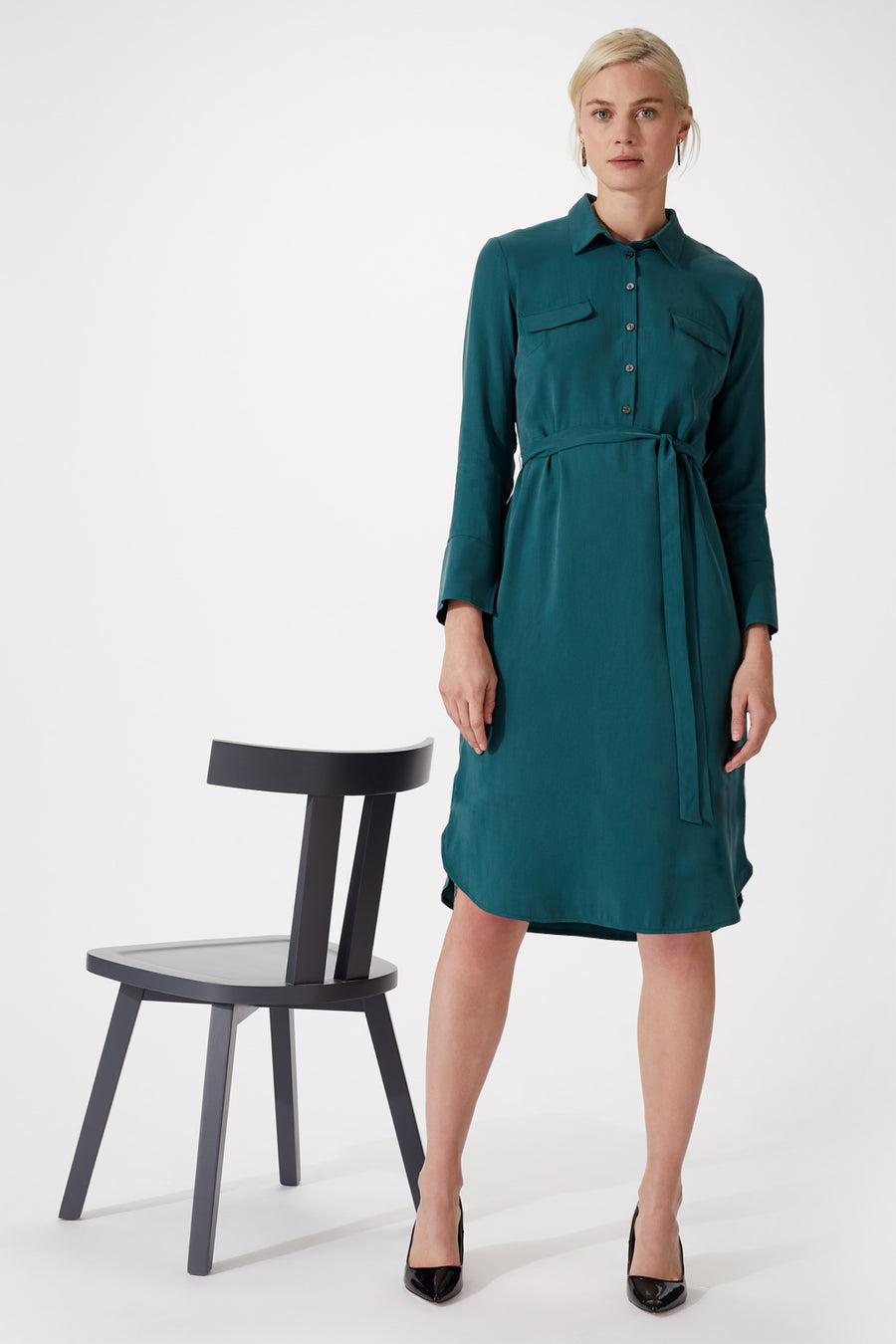 Suffolk Green Shirt Dress