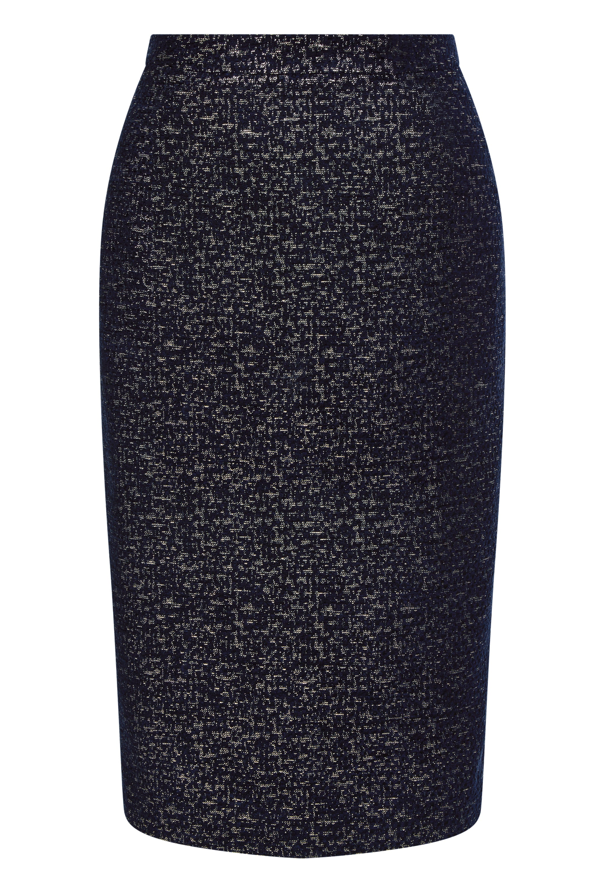 Suzy Navy & Gold Jacquard Skirt