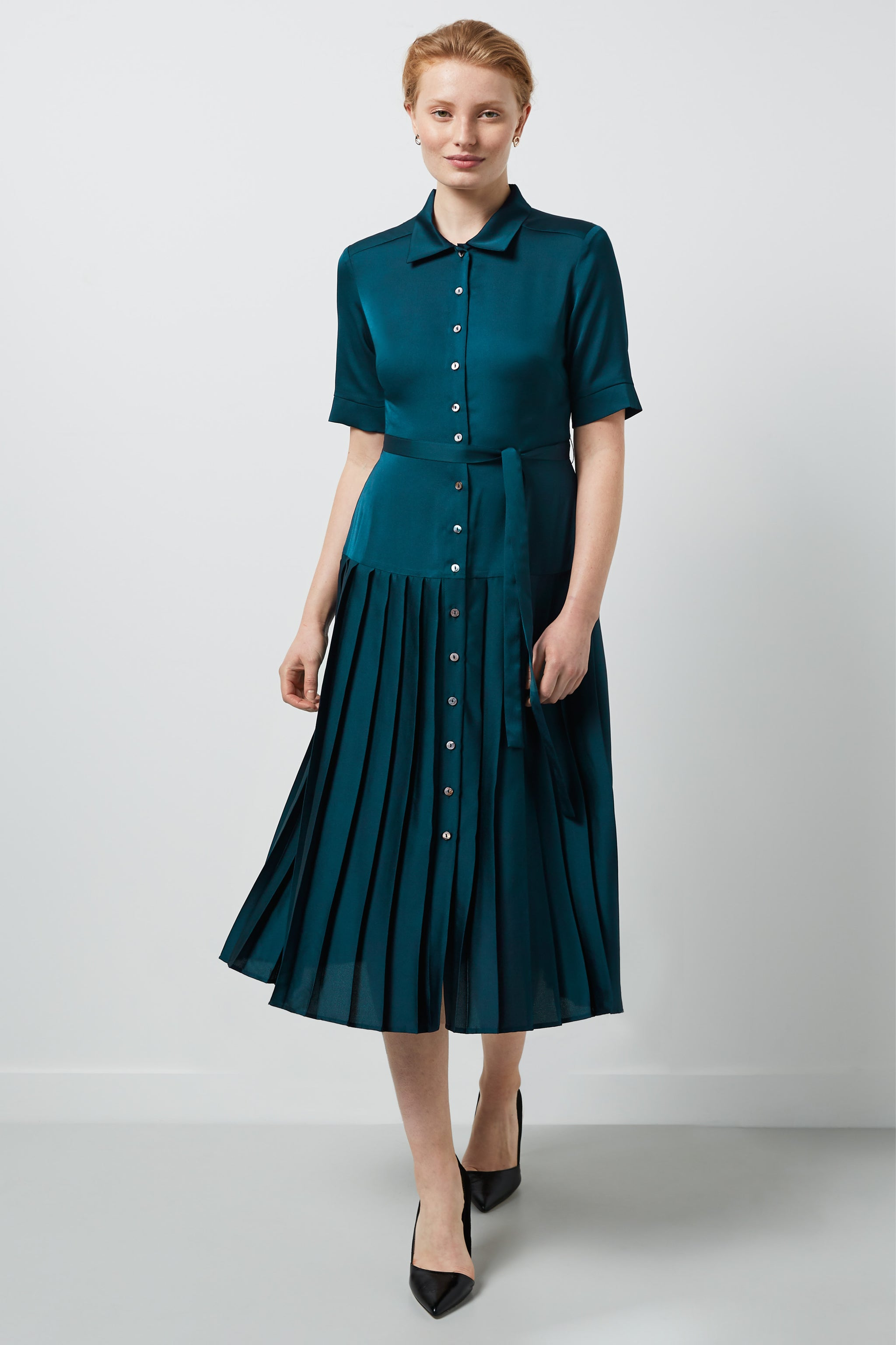Tavistock Teal Shirt Dress