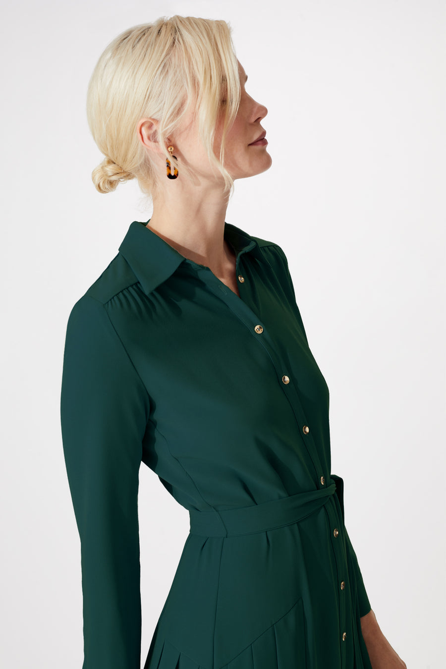Thames Green Shirt Dress