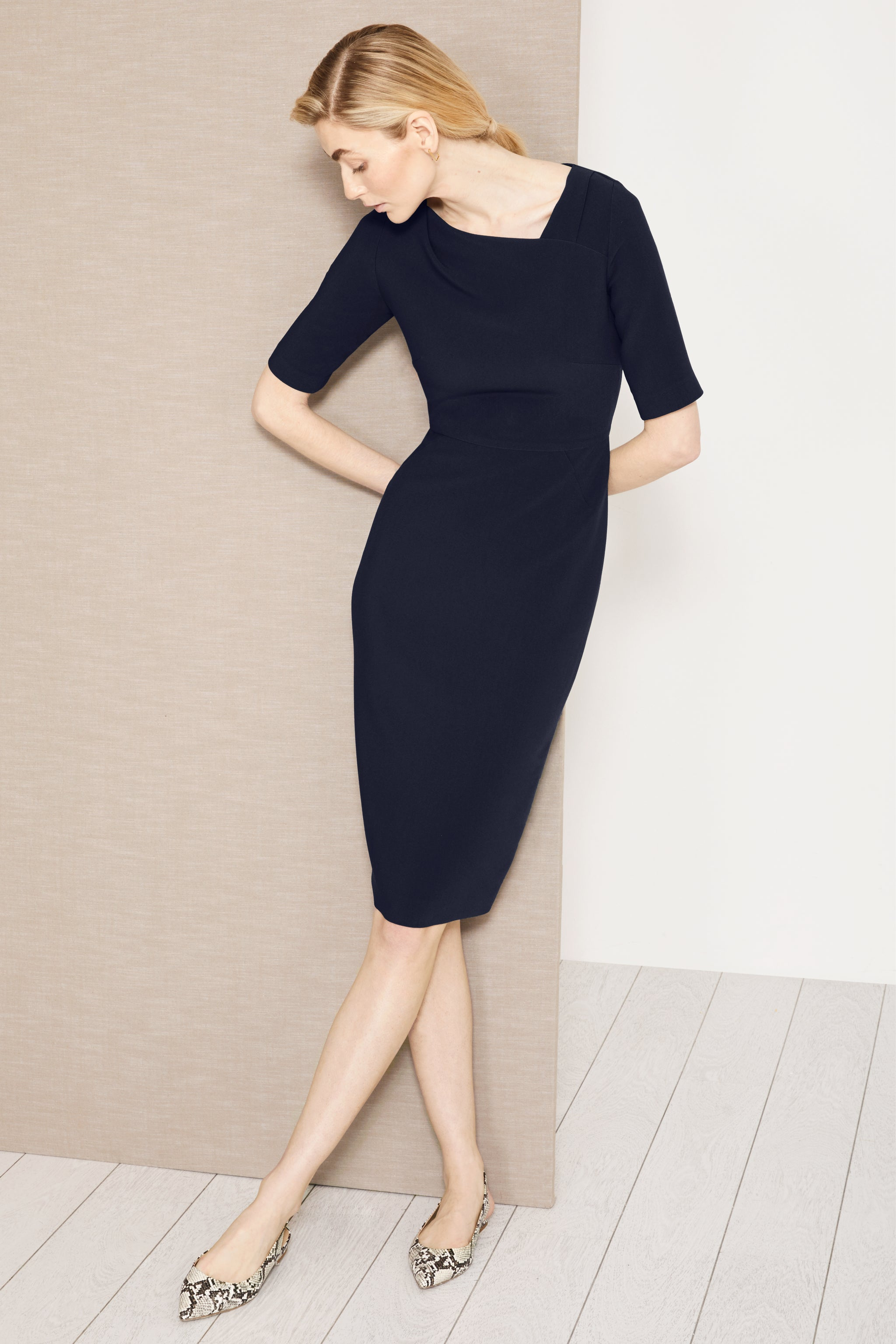 Thurloe Navy Suiting Dress