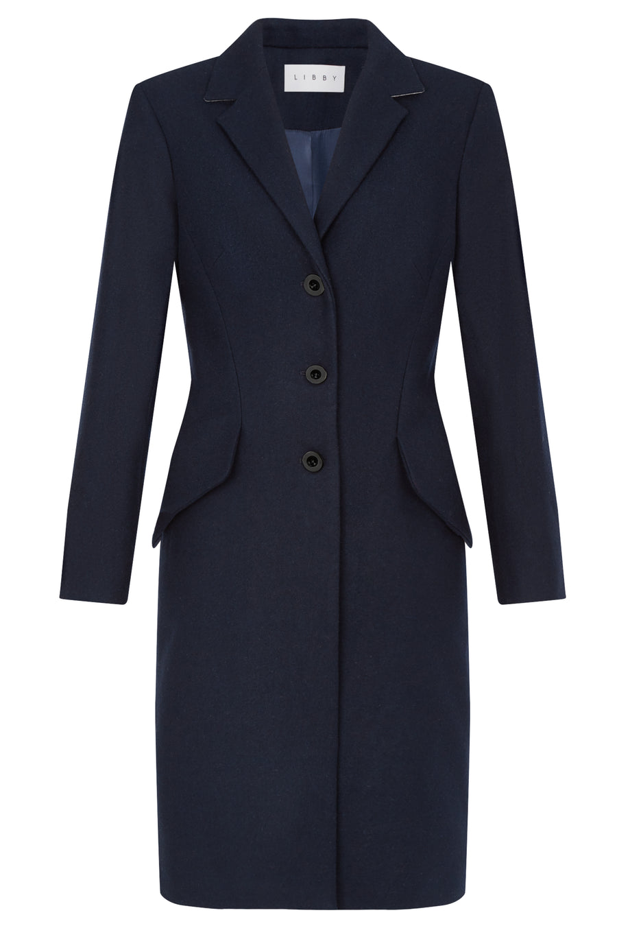 Trafalgar Navy Wool Coat