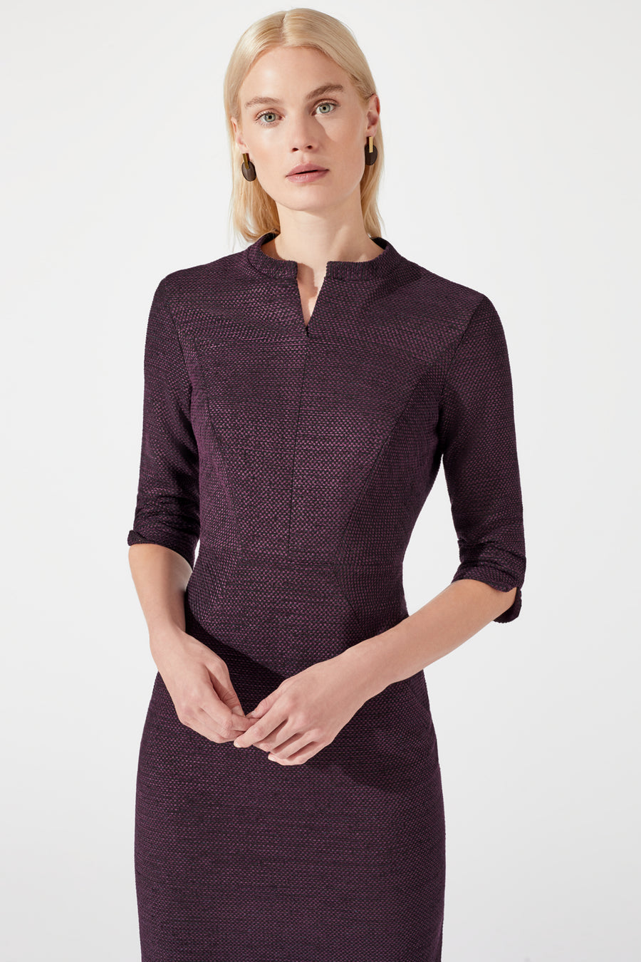 Waterloo Damson Jacquard Dress