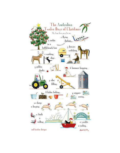 12 Days Christmas Tea Towel