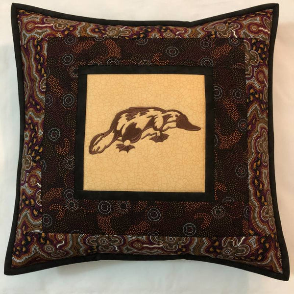Cushion Cover Platypus on Aboriginal