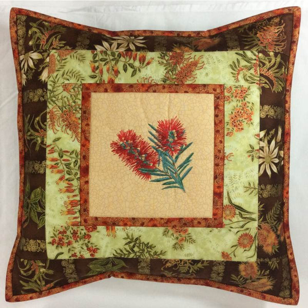 Cushion Cover Bottlebrush on Wildflower
