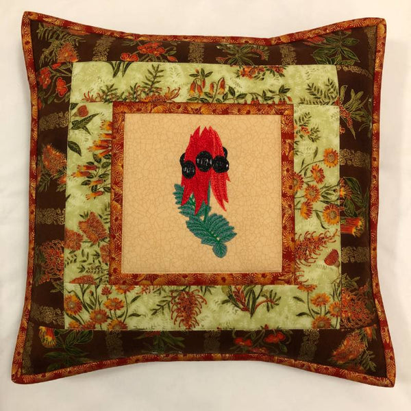 Cushion Cover Sturt Pea on Wildflower