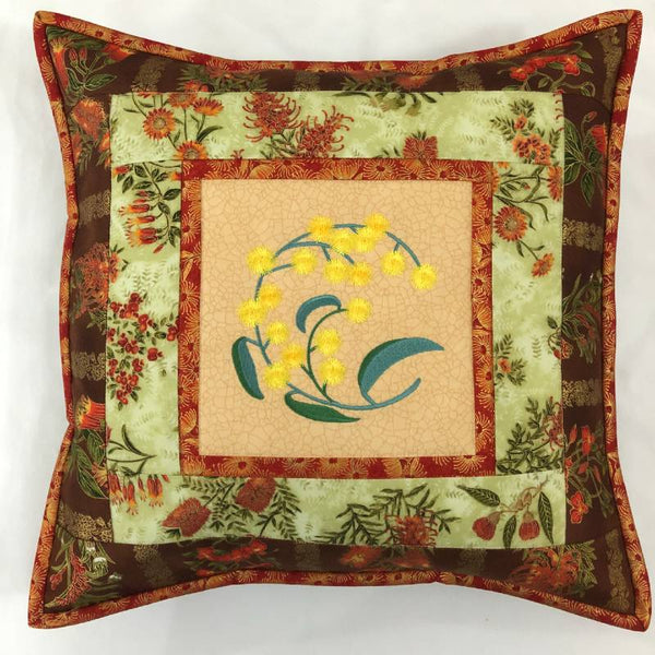 Cushion Cover Wattle on Wildflower