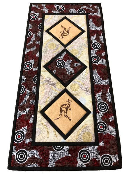 Table Runner Kangaroo on Aboriginal