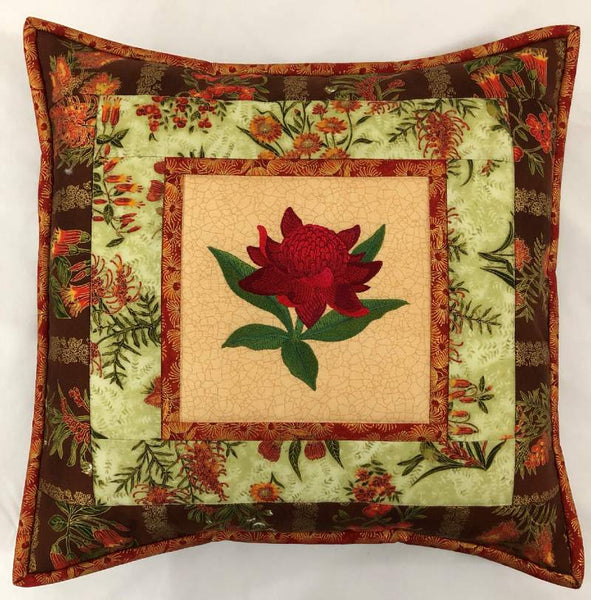 Cushion Cover Waratah on Wildflower
