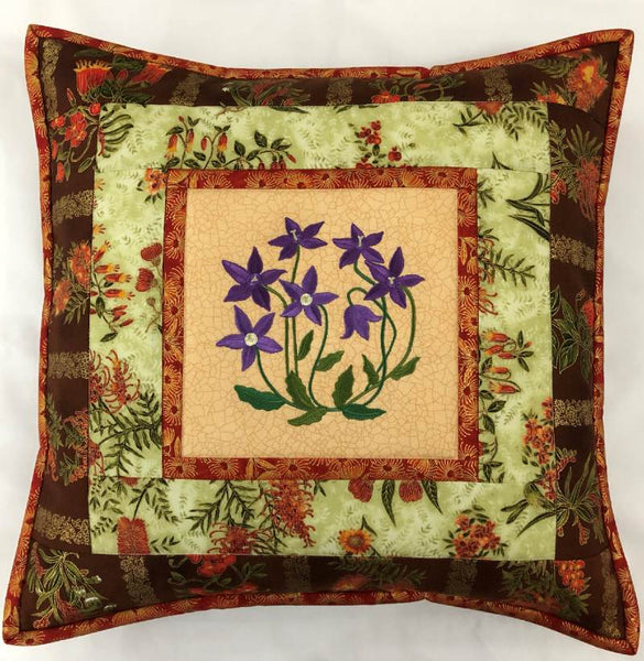 Cushion Cover Bluebell on Wildflower