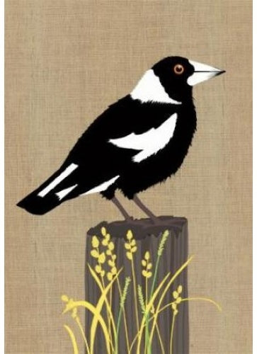Card Magpie Super Cute