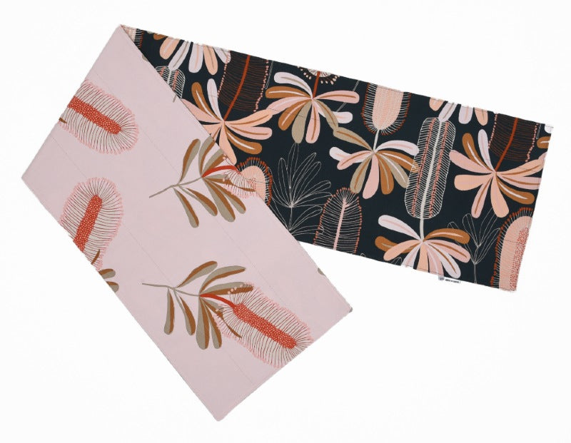 Canvas Banksia Table Runner