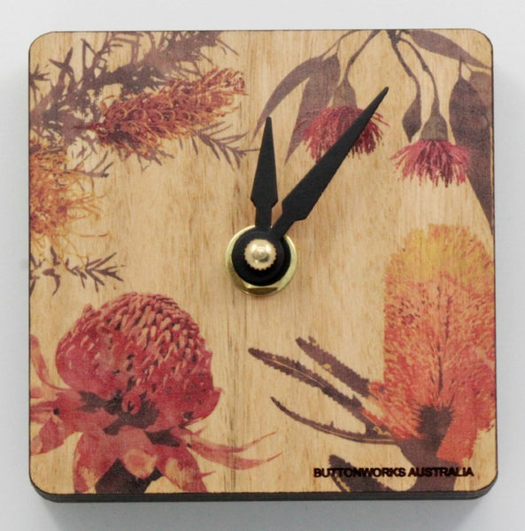 Clock Wildflowers Mini Desk