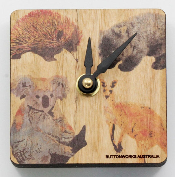 Clock Coloured Animals Mini Desk