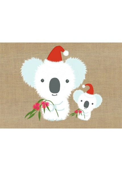 Card Xmas Two Koalas